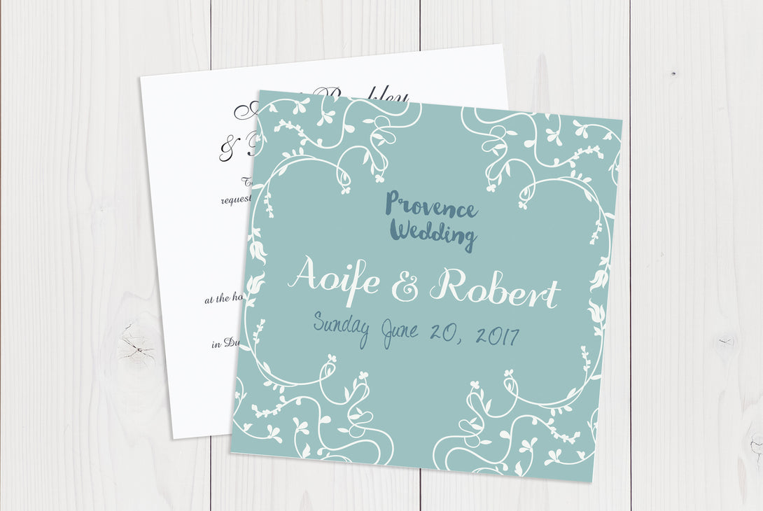 Flat Squared Wedding Invitation Ref.: SQF018