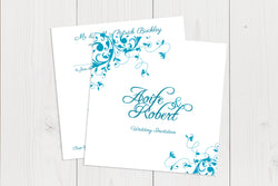 Flat Squared Wedding Invitation Ref.: SQF022