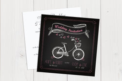 Flat Squared Wedding Invitation Ref.: SQF023
