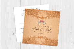 Flat Squared Wedding Invitation Ref.: SQF028