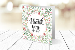 Thank You Cards Square Folding Ref.: TYSQFLD001