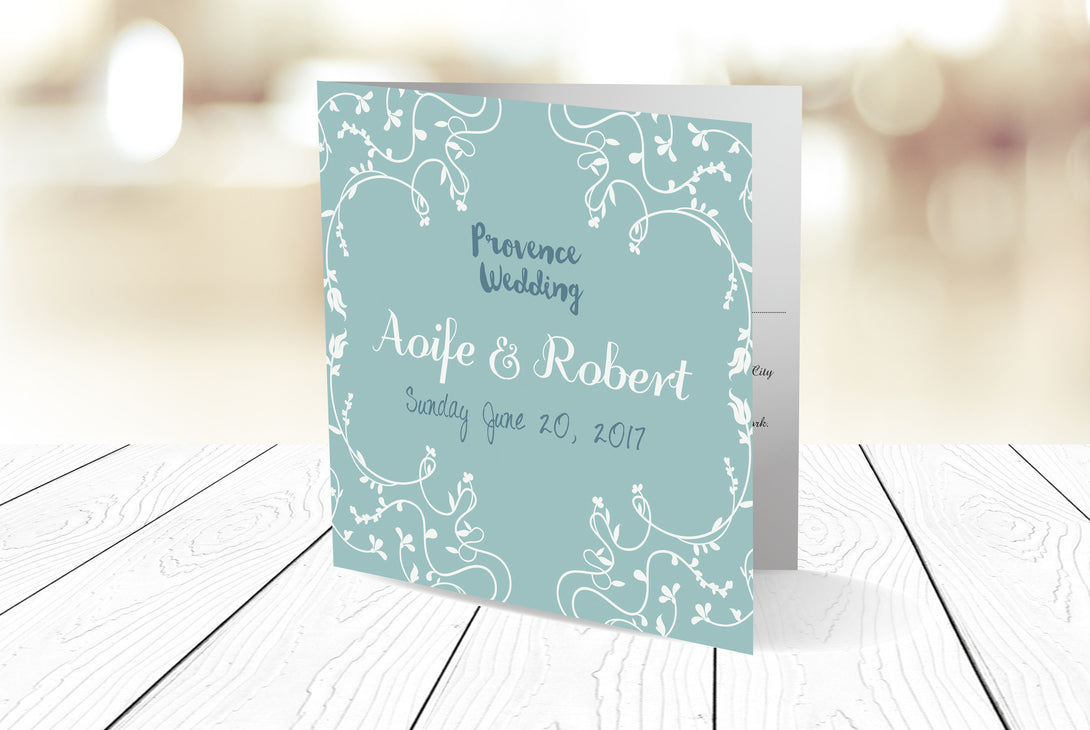 Folded Wedding Invitation Ref.: SQD108