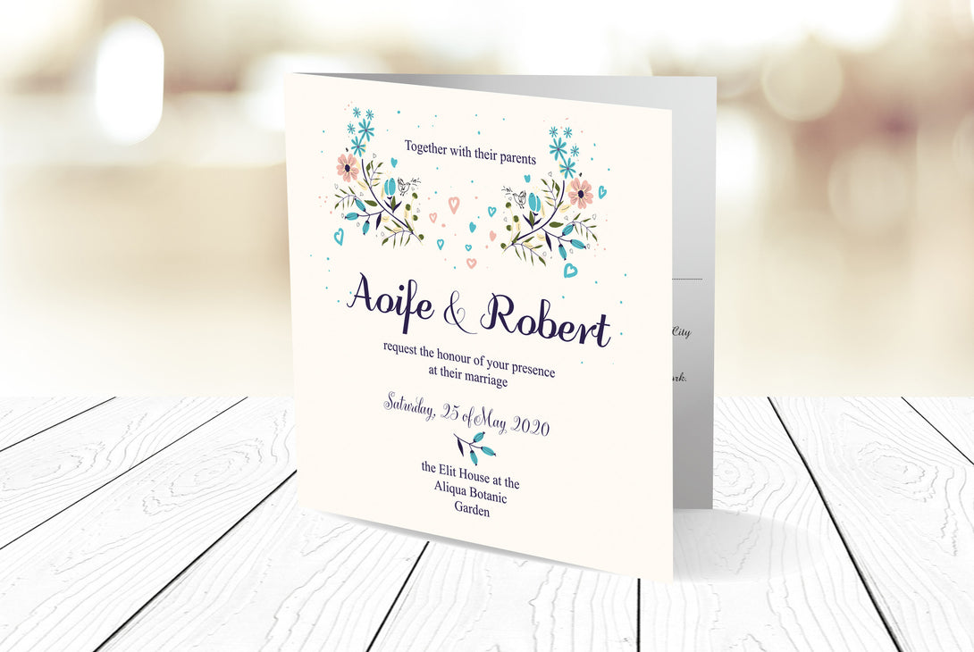 Folded Wedding Invitation Ref.: SQD115