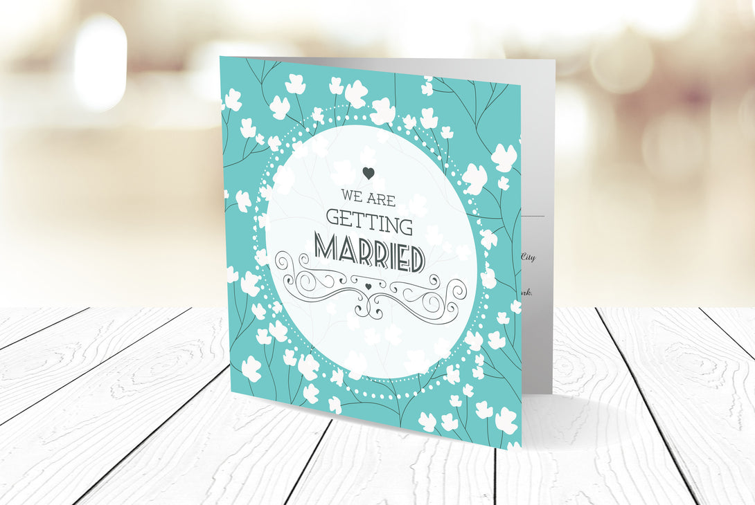 Folded Wedding Invitation Ref.: SQD117
