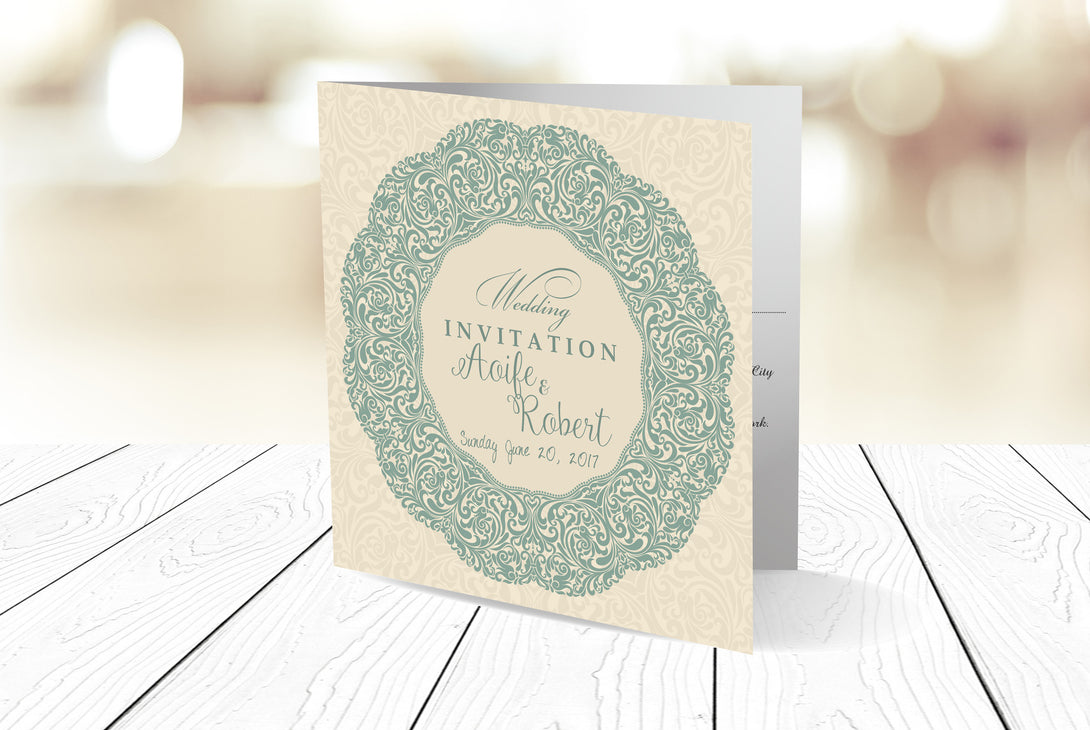 Folded Wedding Invitation Ref.: SQD124