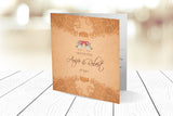 Folded Wedding Invitation Ref.: SQD125