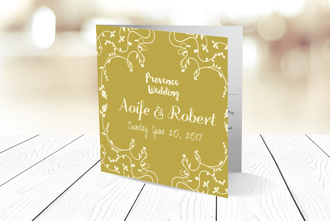 Folded Wedding Invitation Ref.: SQD136