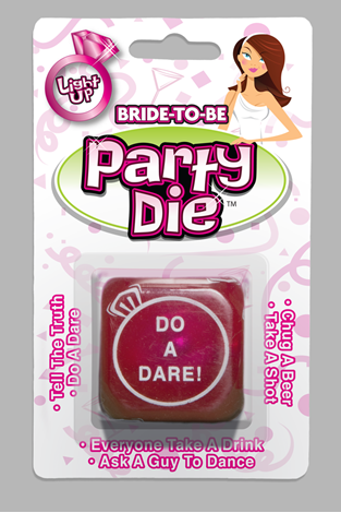 Bride to Be Flashing Party Dice