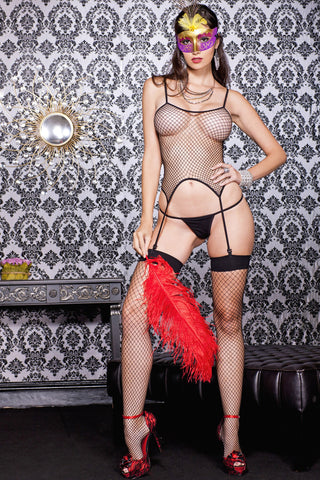 Diamond Net Cami Garter