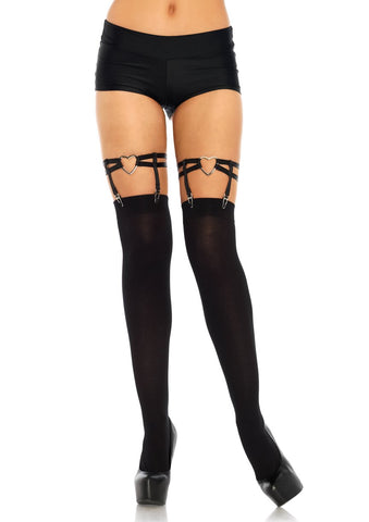 Heart Thigh High Garters