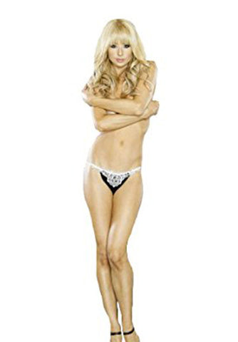 Veils & Bells Embroidered Crotchless Thong
