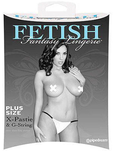 Fetish Fantasy X Pasties & G String, Plus Size
