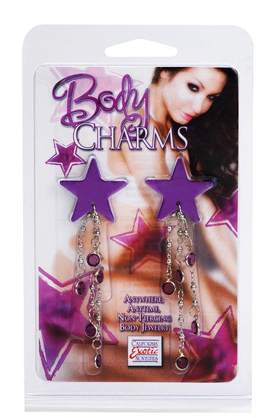 Body Charms- Purple Stars- Non Piercing Body Jewelry