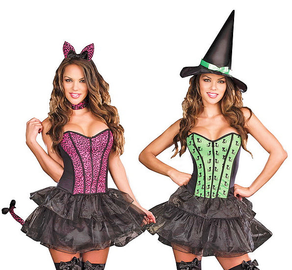 Under My Spell Witch to Cat Reversible Costume
