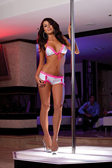 Bubblegum Dreams Tri Top, Thong, Shorts, & Leg Wrap Set
