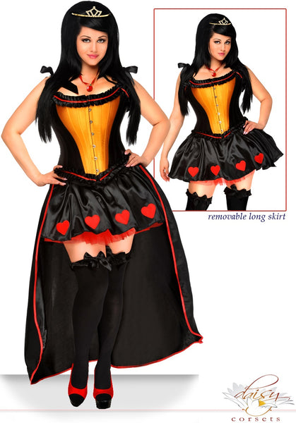 5 Piece Sexy Queen of Hearts Costume