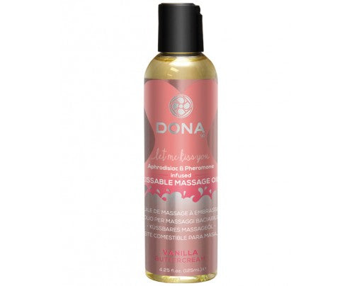 Dona by Jo Let Me Kiss You Aphrodisiac and Pheromone Infused Kissable Massage Oil