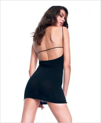 Bareback Opaque Mini Slipdress