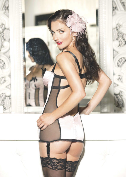 Satin and Mesh Chemise