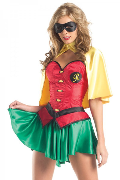5 Piece Miss Robin Costume