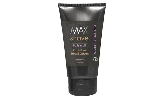 Max For Men Balls N All Pheromone Rash-Free Shave Cream