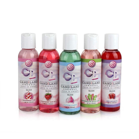 CandiLand Sensuals Glide Flavored Water-Based Personal Lubricants 4oz