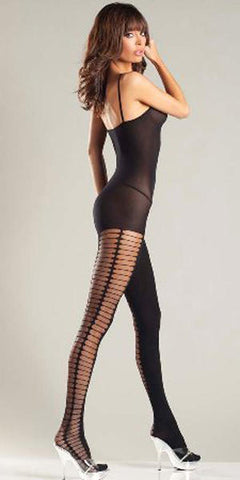 Opaque Halter Top, Crotchless Spaghetti Strap Bodystocking