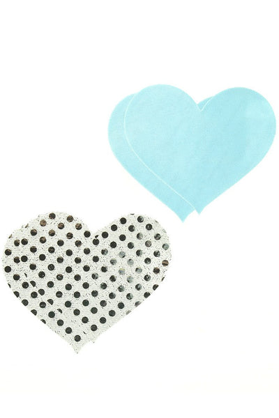 Peekaboos Premium True Blue Hearts Pasties