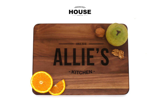 Personalized wooden cutting board  Kitchen  – ENGRAVED HOUSE 911094028f05