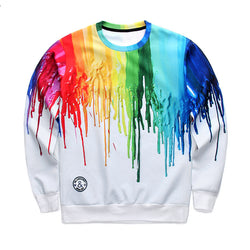 Sweater med Ink print