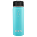 penguin cold insulated stainless steel bottle teal with sipper with hydro flask flip lid - great for coffee, tea, and hydration