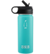18oz Straw Lid penguin cold insulated stainless steel bottle with sipper with hydro flask flip lid - great for coffee, tea, and hydration