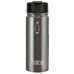 penguin cold insulated stainless steel bottle gunmetal with sipper with hydro flask flip lid - great for coffee, tea, and hydration