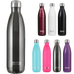 25oz Penguin cold insulated stainless steel bottles / flasks, holds extreme hot and cold temperatures, leak proof twist swell lid, double wall vacuum insulated, BPA free, no sweat condensation bottle, triple insulation with copper coating, 18/8 stainless steel 304 grade