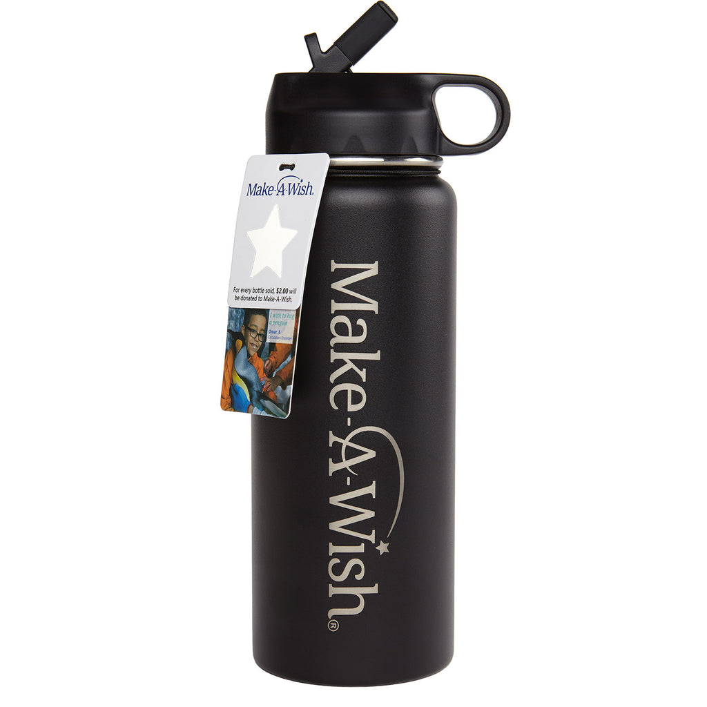 24oz Make-A-Wish Penguin Cold | Vacuum Insulated Stainless Steel Water Bottle