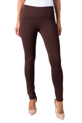 PONTI KNIT LEGGING - CHOCOLATE