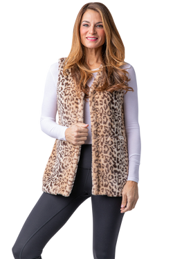 V- Neck Faux Fur Vest