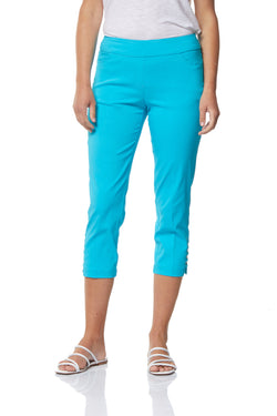 CROP PANT - TURQUOISE