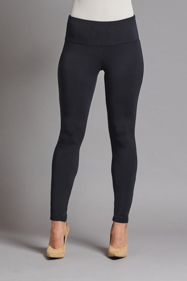 KNIT ANKLE LEGGING - BLACK