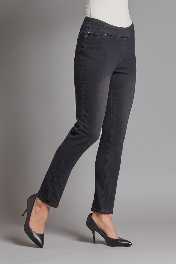 SOLID JEAN STYLE ANKLE PANT
