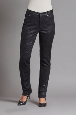 Glazed Twill Slim Jean - Black