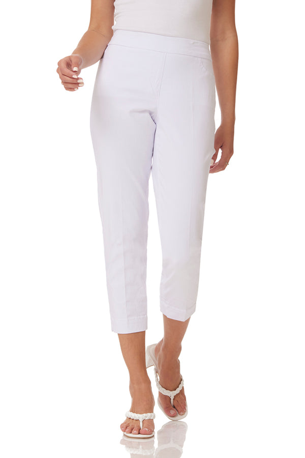 SKINNY SOLID CROP - WHITE