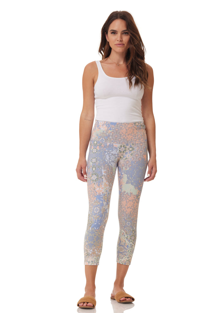 Print Knit Crop Legging
