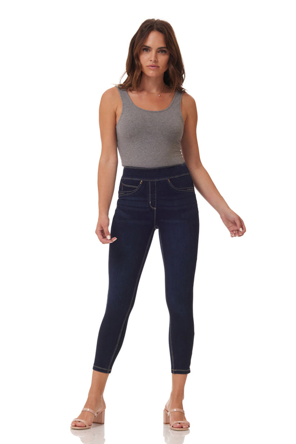 Ultra by Slimsation - Crop Jean in Dark Indigo
