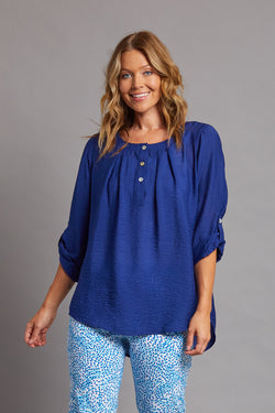 Pleated Hi-Lo Woven Top