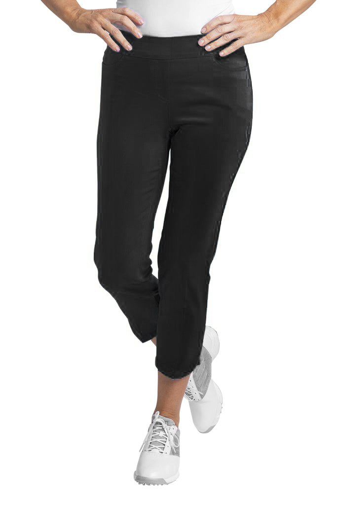 Dolphin Crop Pant - Black