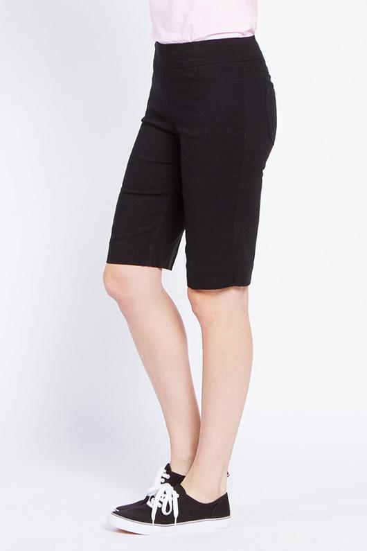 Pull-On Solid Golf Walking Short - Black