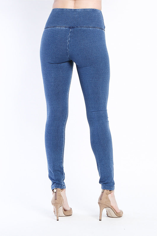 SOLID FRENCH TERRY LEGGING - LIGHT INDIGO
