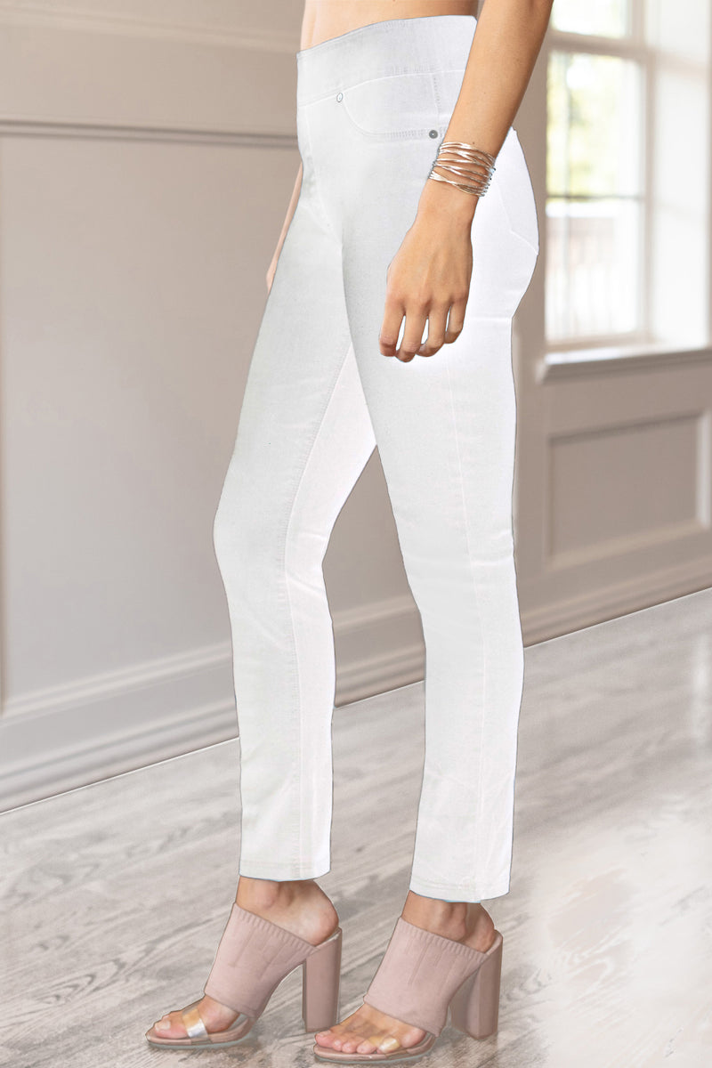 Ultra by Slimsation - Ankle Jean in White