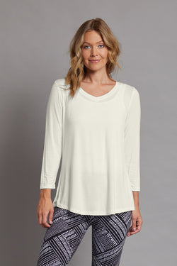V-Neck Solid Knit Top - Ivory